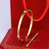 Con caja cari damas amor anillos colgantes collares tornillo pulsera camioneta fiestas boda pareja regalo amor pulsera moda lujo lujoso diseño pulsera A33