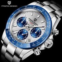 Saatı Pagani Tasarım PD-1644 Erkek Saatler VK63 Kuvars İzle Erkekler Için Su Geçirmez Chronograph Relogio Masculino Business XFC