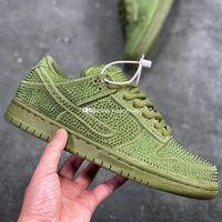 CPFM Dunks Saf Platin Spor Ayakkabı Erkekler Için Kaktüs Sneakers Erkek Kristaller Bitki Paten Ayakkabı Bayan Pire Elmas Sneaker Maket Skate Kaykay Yeşil CZ2670-001