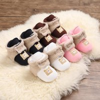 First Walkers Winter Snow Boots For Born Baby Girls Booties Keep Warm Plush Inside Anti-slip Infant Toddler Cute Soft Bottom Shoes