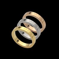 High Quality Women Designer Love Rings Gold Silver Rose Colors Narrow Version G Letter Titanium Steel Engagement Ring Fashion Jewelry Lady Party Gifts Wholesale
