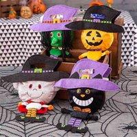 Halloween Children's Candy Bag Kindergarten Boys Girls Handbag Pumpkin Ghost Cat Fashion Cute Portable Gift Bag Party Decoration Gifts G96ZF22