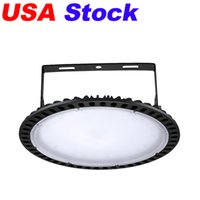 الولايات المتحدة الأمريكية الأسهم 300W UFO LED عالية الخليج ضوء مصباح المصنع الإضاءة الصناعية 24000 التجويف 6000-6500K IP65 أضواء مستودع