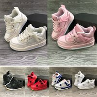 Ortak İmzalı Yüksek OG 1 s Çocuk Basketbol ayakkabı Chicago 1 Bebek Erkek Kız Sneaker Toddlers Yeni Doğan Bebek Eğitmenler Çocuk ayakkab ...