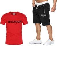 Роскошные высококачественные мужские летние спортивные футболки Tee Home Set Мужская футболка шорты Брюки хлопчатобумажная футболка бег спортивный костюм 2021 одежда