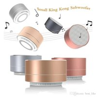 Subwoofer Small King Kong Portable Speaker With Handfree Calling&LED Light TF Card FM Radio AUX MP3 Music A10 Wireless Bluetooth