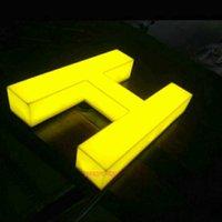 Açık hava reklam akrilik ışıklı işaretler 3D led harfler özelleştirilmiş modüller