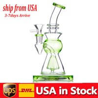 new arrival 10.5inch Hookahs Glass Water Bongs pipe Colorful Heady Mini Dab Rigs Small Bubbler ash catcher Beaker recycle oil burner bong