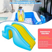 Pool & Accessories Inflatable Waterslide Wider Steps Swimming Slide Castle Waterslides Summer Water Kids Play Toys