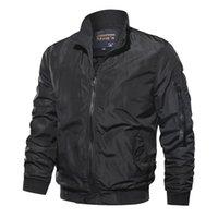 Casaco Militar Men's Slim Bomber Aurumn Inverno Homens Outerwear Casual Manga Longa Jackes e Casacos Mens Roupas Plus Size Casacos