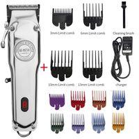 All-Metal Barber Hair Clipper Professional Electric Hair Trimmer Men Cordless Hair Cutter Machine Cut Magic Rechargeable