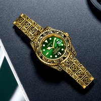 Европейская и американская мода высококачественная трансграничная горячая распродажа национальная мода резная вода призрак личности сталь ремня кварцевые часы мужские