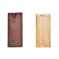 Boîtier de cigarette en bois Portable Portable Noyer Tobacco Boîte de rangement Accessoires de fumée de ménage GWF9128