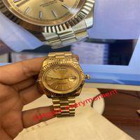 Mode bästsäljande automatisk mekanisk klocka 228238 228239 228235 BP Factory producerar 2813 Rörelse 40mm Mäns Klockor 18K Gold Case Strap - 1