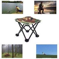 Outdoor-Klappfalte Aluminium-Stuhl-Hocker-Sitzfischen Camping faltbares leichte Gewicht tragbar mit Bag-Zubehör