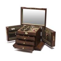 Sacchetti di gioielli, borse stile cinese di lusso grande scatola di legno stoccaggio display dell'orecchino anello anello collana gioielli regalo cassa dell'organizzatore dell'organizzatore