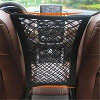 Araba Organizatör Koltuk Geri Depolama Elastik Mesh Net Çanta Oto Arabalar için Bagaj Tutucu Cep Arası 29 * 25 cm1