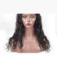 Islak ve Dalgalı Tam Dantel İnsan Saç Peruk Siyah Kadınlar Için Bakire Perulu Su Dalga Dantel Ön Peruk Doğal Saç Çizgisi