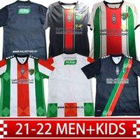 Deportivo 2021/2022 Kundenspezifische Palästino Fußball-Jersey-Fans Version 13 Cortes 7 Rosende Home Away Man + Kids Kit 22 CutierRez 9 Campos 6