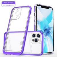 Military Grade Drop Protective Shockproof Acrylic Clear Cases Anti-Fall Rugged SCover For iPhone 13 12 Mini 11 Pro XR XS Max X 8 Samsung S20 FE S21 Ultra Note 10 20