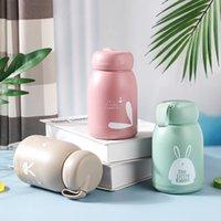 12oz 350ml Cartoon Cute Rabbit Tumblers Personalized Mugs Car Portable Glass Cup Student Cups Tumbler Coffee Mug Wholesale