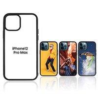 Boş 2D Süblimasyon TPU + PC Yumuşak Cep Telefonu Kılıfları iPhone 12 Mini 11 Pro Max 8 7 6 S Artı Samsung S21FE S21ULTRA S21PLUS Alüminyum Ekler DHL Hızlı