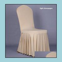 Sashes Textiles Home & Gardenwedding Banquet Er High Quality Protector Sliper Decor Pleated Skirt Style Chair Ers Elastic Spandex Wt056 Drop