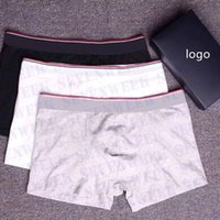 الرجال الملاكمين المصممين السروال السراويل أزياء ماركة رجل الملابس الداخلية القطن مريحة الرجال الملاكم