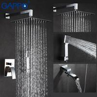 Shower Faucet Bathroom Faucets Bath Mixer Massage Heads Waterfall System Set Sets