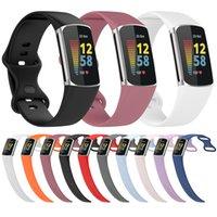 Klassieke officiële riemen horlogeband Soft Silicone Bands Armband Sportriem voor Fitbit Charge 5 Charge5 Horloge Vervanging Smart Accessoires