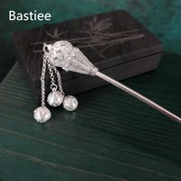Bastiee 999 Sterling Silver Stick Sceptre Chinese Hanfu Pins Hair Accessories For Women Hmong Handmade Ethnic Fine Jewelry