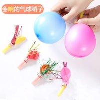 T Głębotne gwizdek balon party atmosfera dźwięk zabawka dmuchanie dzieci