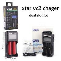 XTAR VC2 충전기 배터리 키트 듀얼 슬롯 LCD 적용 TOTWO 10440 / 14500 / 14650 / 16340 / 18500 / 17670 / 18350 / 18500 / 18650 / 18700 / 22650/25500/26650 / 3.7V 리튬 이온 배터리