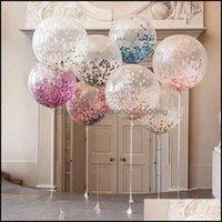 Other Festive Supplies Home & Garden12 Inch Rose Gold Confetti Balloons Babyshower Girl Latex Balloon Wedding Decoration Happy Birthday Part