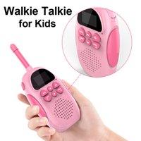 2PCS WALLIE Talkie Kids Walkie-Talkies 22 القنوات 2 طريقة اللاسلكي اللاسلكي اللعب مع مضيا lcd الخلفية للأطفال