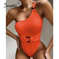 Snake Snake Impressão Feminina Swimsuit Feminino String Monokini Sexy Um ombro Swimwear Mulheres Hollow Out Bathing Suit 210414