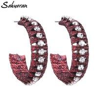 Dangle & Chandelier Sehuoran Crystal Trendy Oorbellen Drop Earrings For Women Bohemian Fashion Jewlery Wholesale Gifts E0993