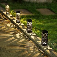 Party Decoration Solar Lawn Light Garden Hollow Lamp Outdoor Soalr Lights Pathway Led Waterproof