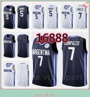 Argentina Olympics Jersey 2020-2021 Tokyo Basketball 5 Manu Ginobili 29 Patricio Garino 8 Nicolas Laprovittola 3 Luca Vildoza 10 Maximo Fjellerup National Team