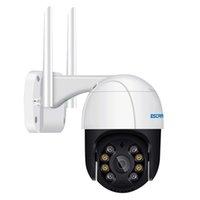ESCAM QF518 5MP WIFI 카메라 팬 / 틸트 AI 휴머노이드 탐지 자동 추적 구름 스토리지 양방향 오디오 밤 비전