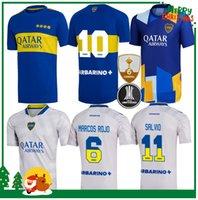 21 22 Boca Juniors de Rossi Soccer Jersey 2021 2022 Home Tevez Carlitos Maradona Camisas Romanas Salvio Abila Pavon Futebol Uniforme