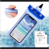 Other Pools Spashg Universal 6Inch 5Inch Mobile Waterproof Swimming Pouch Case Clear Pvc Sealed Underwater Cell Phone Protect Bags Wit Hdlch