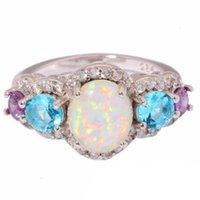 Amor anillo aobao mujeres con incrustaciones para dos colores