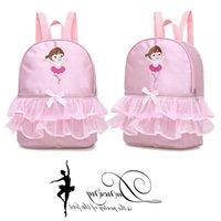 Logo Children's Dance Bag Girls Yoga Lace Ballet Shoulder Side Folk Latin Backpack Nqaio