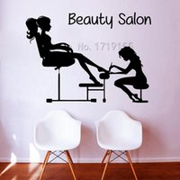 Pedicure Wall Stickers Girl Nails Manicure Cosmetics Decal Women Beauty Salon Decor Home Interior Design DIY ZW436
