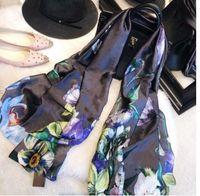Diseñador Bufandas de seda para mujeres Flower Flower Flower Flower Pashmina Pashmina Infinity Bufanda Señoras Mantones Cubierta de bikini S991