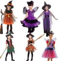 Abbigliamento per bambini strega cosplay costumi ragazze vestito di halloween bambini estate moda boutique vestiti del bambino Z3853