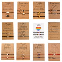 Corda ajustável charme coração pulseira conjunto mulheres homens infinito amor coração girassol grânulos de pedra vulcânica combinando braceletes emparelhados