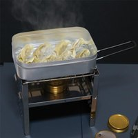 Geschirr Sets Container Faltbare Aluminiumlegierung Edelstahl Picknickbox Dinner Eimer Munch-Box Frühstück Lagerschule