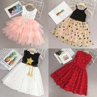 Yofeel 2020 جديد الصيف الفتيات اللباس الاطفال الأزهار عارضة الملابس الرباط زهرة الطبقات تصميم فستان فتاة الأميرة اللباس حزب ثوب Q0716